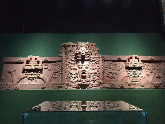 A Mayan wall at Mexico's Anthropology Museum.