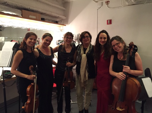 Celebrating a great concert backstage at REDCAT.