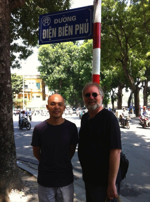 With Vu Nhat Tan in Hanoi in 2013, on our way to the greatest coffee in the world at Cong CaPhe.