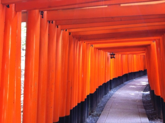 Only in Japan: the Fushimi Inari Shrine of Kyoto.