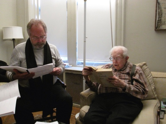 Discussing Ezra Pound and On Conversing with Paradise with Carter in January 2010