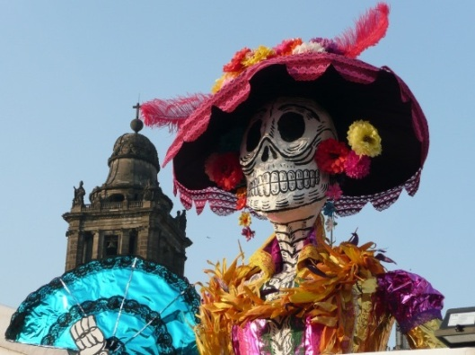 A Day of the Dead Parade opens SPECTRE, the next James Bond film.
