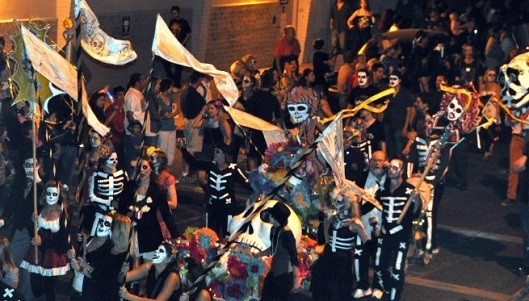 Day of the Dead revellers in Mexico.