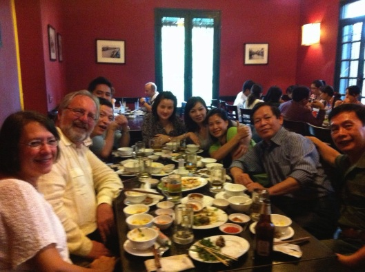 Reconnecting in 2013 with many friends at Restaurant Ngon.
