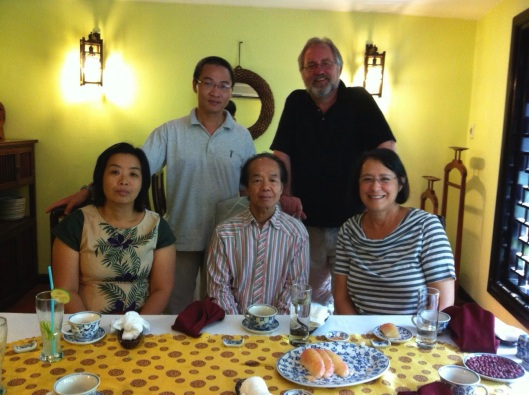 With Huong Vu Thuy, Bao Coc and Nguyen Thien Dao (center) who studied with Messiaen.