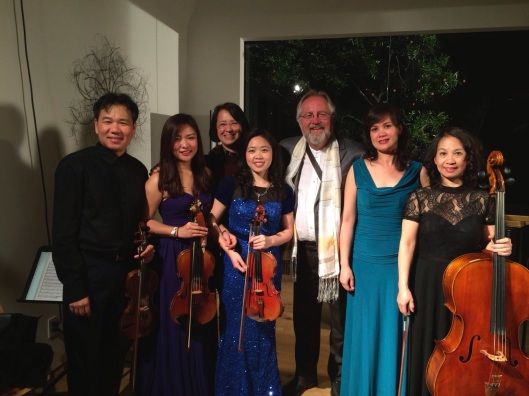 With Song Hong in Los Angeles for their U.S, debut in April 2014.