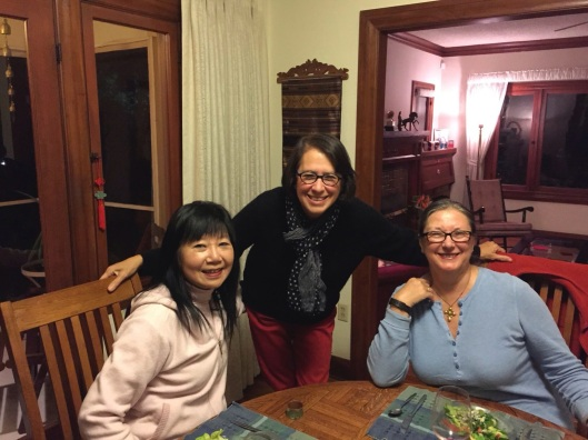 Joan Huang, Jan and Lucille Romieu.