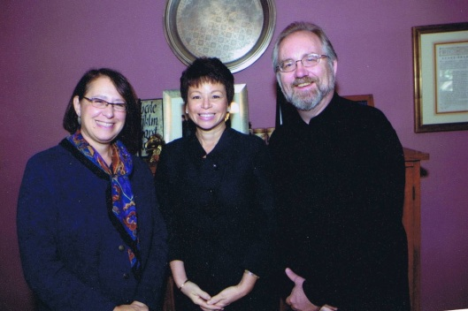 Jan and I disucssing Ascending Dragon with Valerie Jarrett.