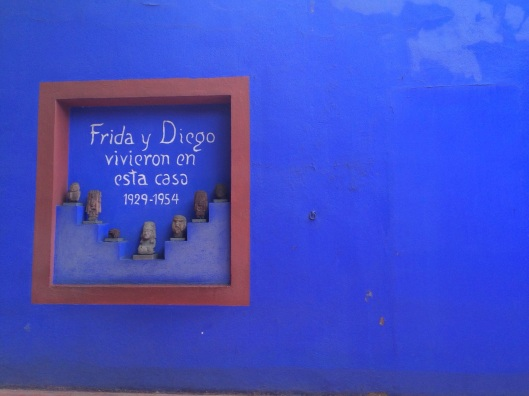 La Casa Azul in Coyoacan of Kahlo and Rivera.