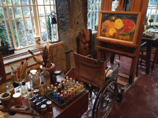 Kahlo's work area.