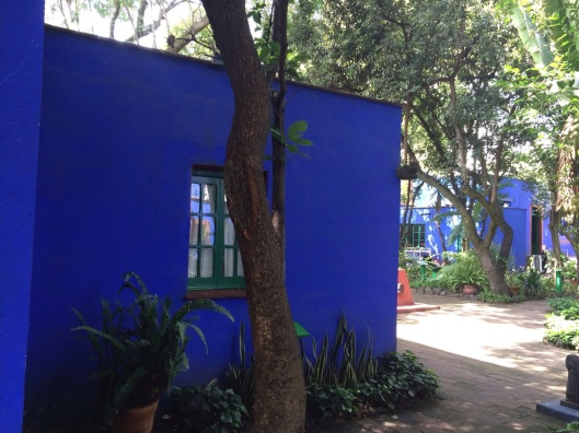 The cobalt blue of Kahlo's home stay with me.