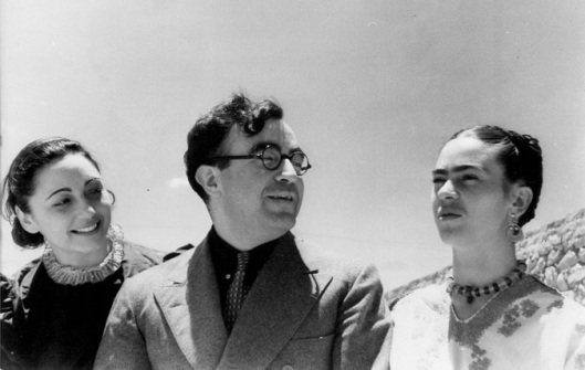 At Teotihuacan: Rosa Covarubbias, Carlos Chavez and Frida Kahlo.