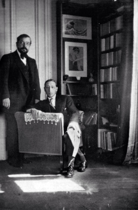Debussy and Stravinsky photographed by Satie.