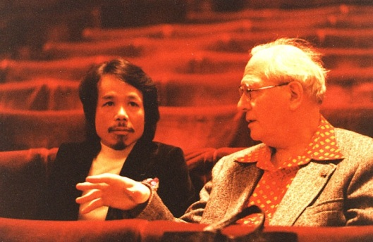 Nguyen Thien Dao with his mentor Olivier Messiaen.