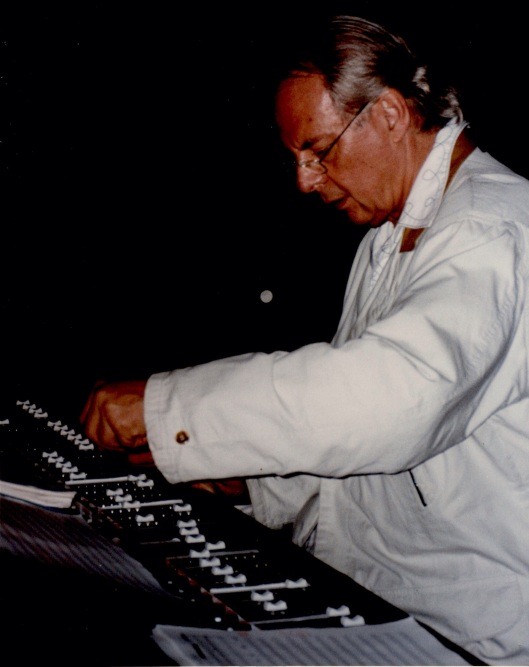 Karlheinz Stockhausen at the Salzburg Festival, photographed by our friend Betty Freeman.