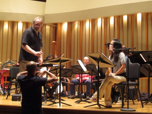 Working with Vu Nhat Tan in 2012 on his powerful Song of Napalm in Los Angeles.