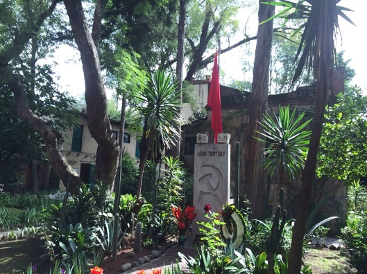 The grave of Leon Trotsky and his wife in Coyoacan.