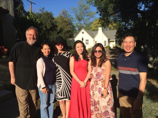 With the Song Hong Ensemble at my Pasadena home in 2014.