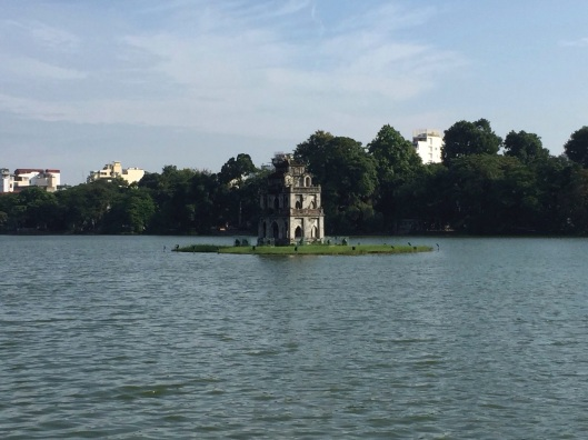 Hoan Kiem Lake on a beautiful autumn day.