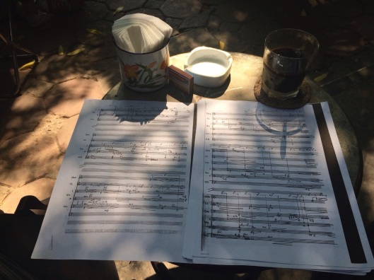 My morning coffee for studying a score by Kimngoc Tran.