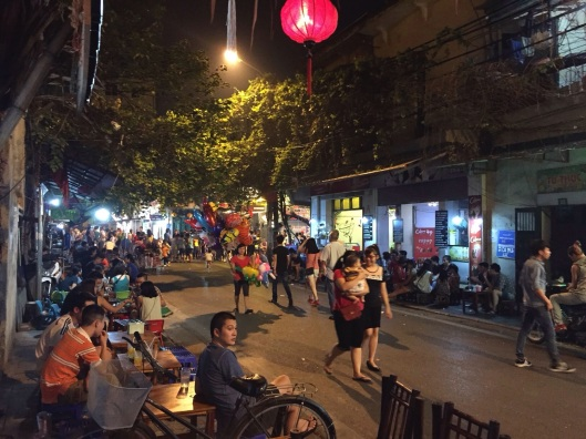 The vibrant Old Quarter of Hanoi.
