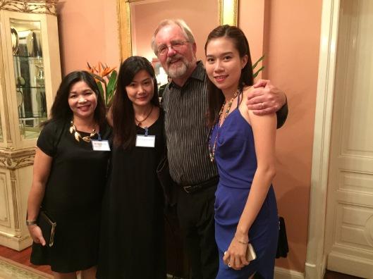 With my tutor Tran Thu Thuy, cellist Quynh Lephan and violinist Khanh Linh.