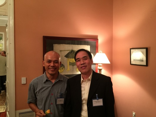 Vu Nhat Tan with Dr. Minh Anh of VNAM.