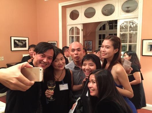 Photo of a selfie in progress!