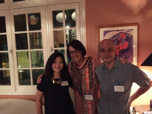 Jan quietly savoring the moment with Tran Thu Thuy and Vu Nhat Tan.