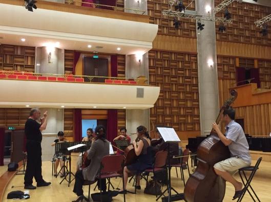 Grand Hall rehearsal.