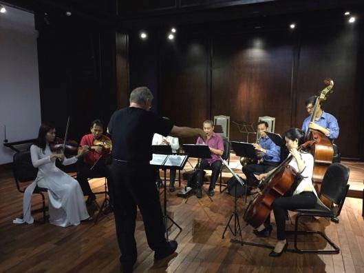 Old Quarter dress rehearsal of Kimngoc Tran's DAY THI.