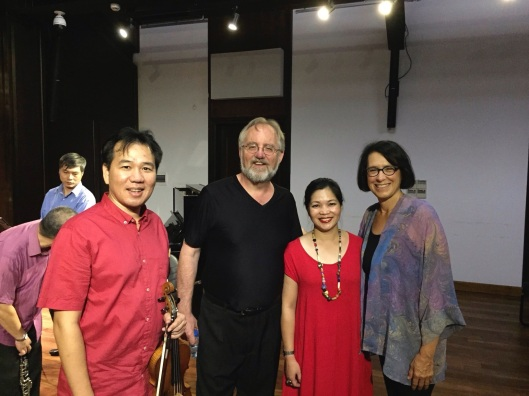 Jan and I with Pham Truong Son and our Vietnamese tutor, his wife Tran Thu Thuy.