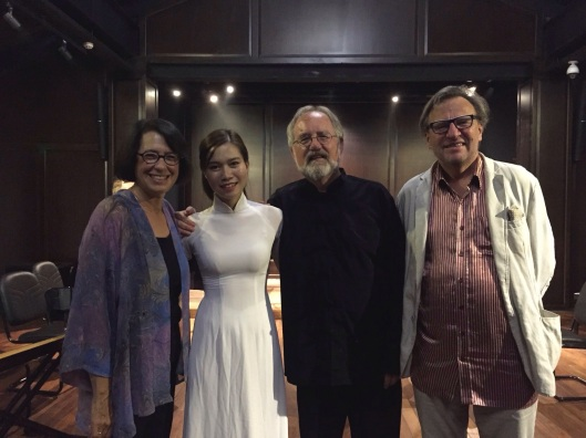 The potential of violinist Khanh Linh is easy to hear, with Jan Karlin, me and Geir Johnson.