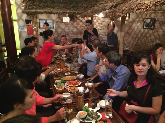 A great after party for the debut of the Hanoi New Music Ensemble.