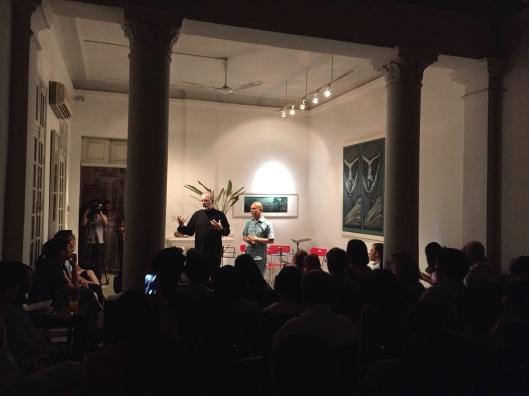 Pre-concert talk at the Manzi Art Space.