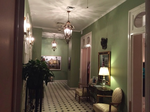 A hallway in the U.S. Ambassador's Residence.