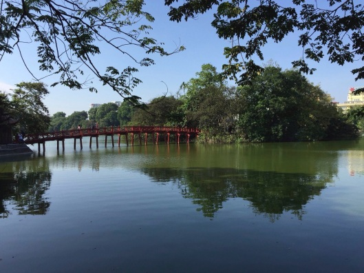 Hoan Kiem Lake on a cool October morning.