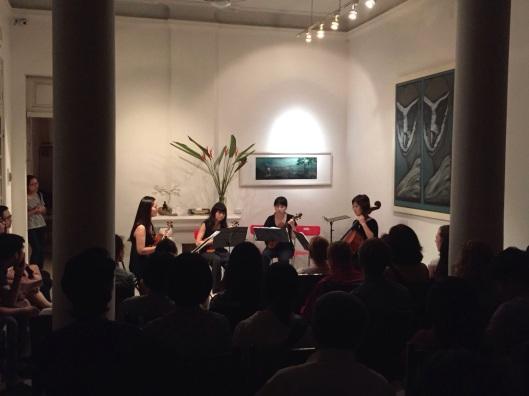 The VNSO String Quartet playing Dan Huu Phuc.