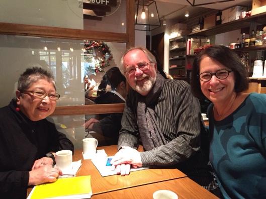 With Tambuco's Japanese agent, Masako Okamura, in Tokyo.