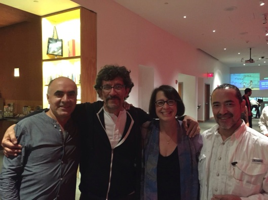Ricardo with Colombia's Leopoldo Novoa with Jan and Raul Tudon at REDCAT.