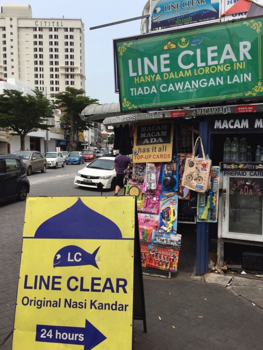 The famous LIne Clear is on Jalan Penang.
