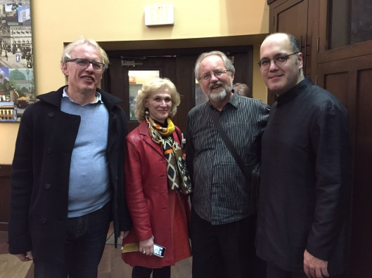 With Martin and Barbara Haelboeck and their son-in-law, pianist Gottfried Wallisch.