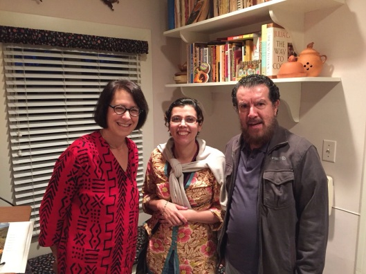Jan with Paola and Gaston in our Pasadena home.