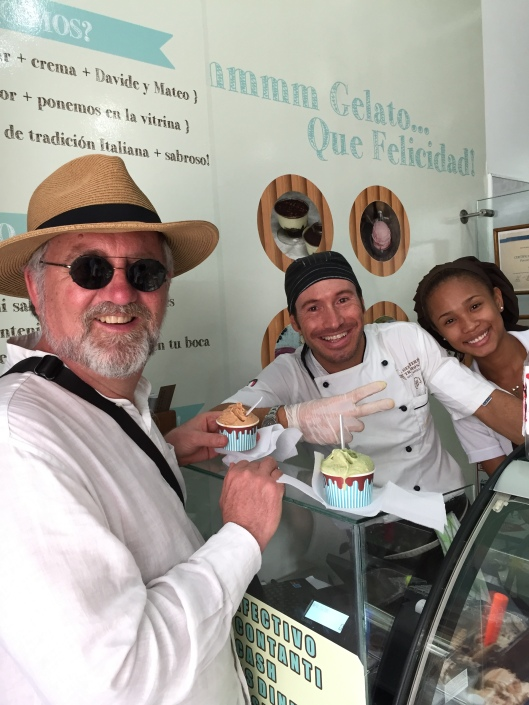 Happy Italian and Afro-Caribbean gelato makers.