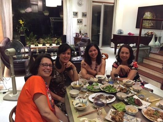 Jan with Trang Pham, our Vietnamese tutor Thuy Tran and cellist Trinh Dao in Hanoi.