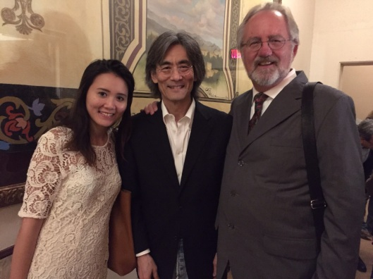 Celebrating backstage as Vi Pham meets Kent Nagano.