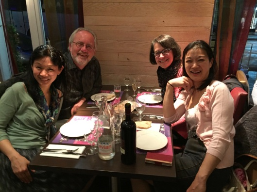 Family night in Paris with Momo and Mari Kodama.