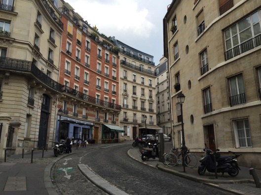 Rue Lepic in Monmartre.