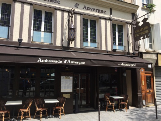 The Ambassade d'Auvergne, a favorite place of Pierre Boulez.