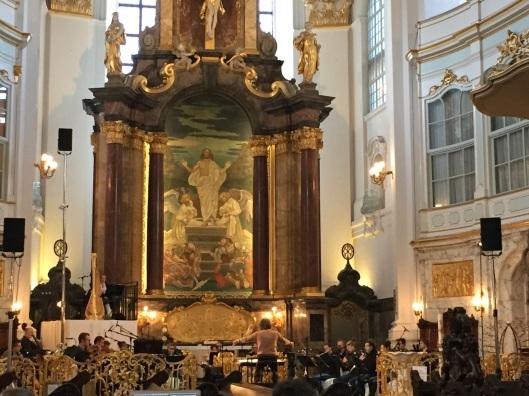 Rehearsing Boulez's Repons in Hamburg.